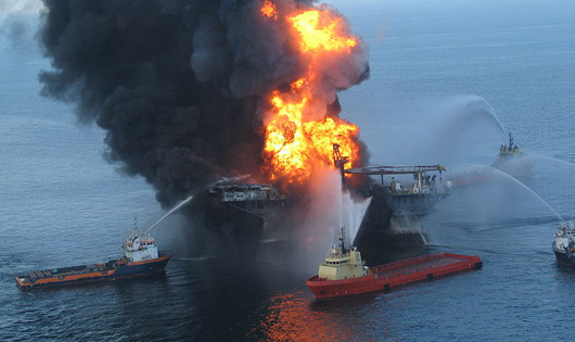 Deepwater Horizon offshore drilling unit. Foto: Wikipedia